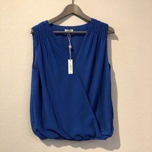Max Studio Balloon Wrap Blue Top/Size M/NWT